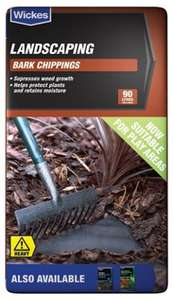 Bark Chippings, £15 for 360 litres @ Wickes (C&C)
