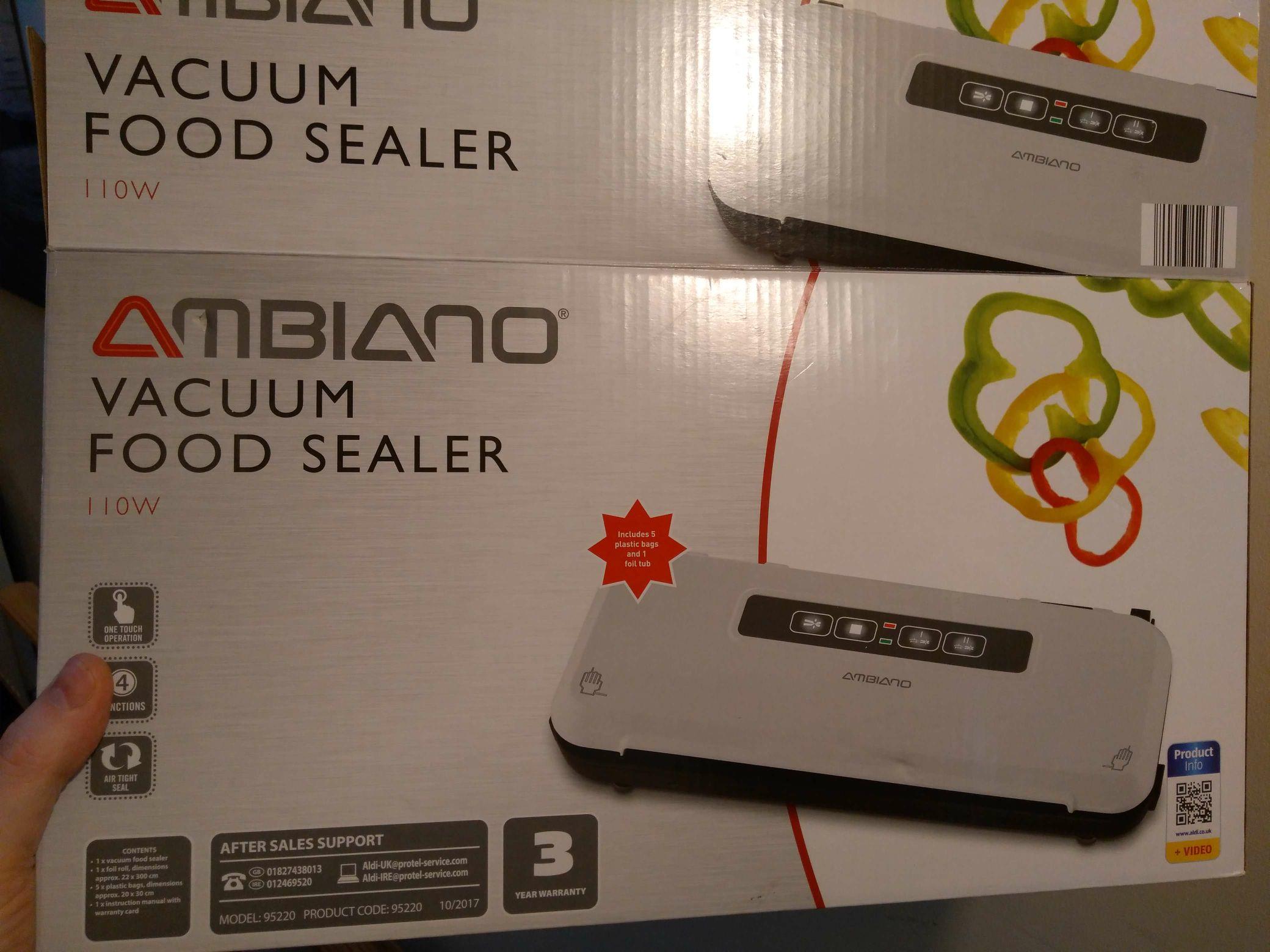 Ambiano Vacuum Food Sealer 110w £7.99 instore @ Aldi