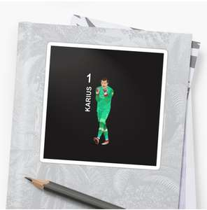Loris Karius sticker at Red Bubble for £4.10