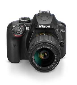 Nikon D3400 + AF-P 18-55VR Digital SLR Camera & Lens Kit - Black (change seller to Amazon £360 plus £50 discount at checkout - temporarily OOS)