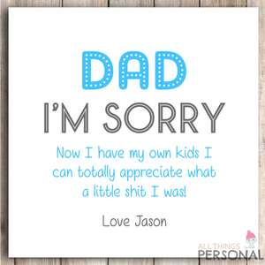 Personalised Father's Day Card at Ebay/allthingspersonal_uk for £1.99