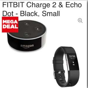 FITBIT Charge 2 & Echo Dot - Black small or large £119.99 @ Currys