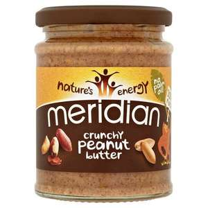 Meridian Peanut Butter 280g crunchy or smooth - £1.50 @ Tesco in store or online