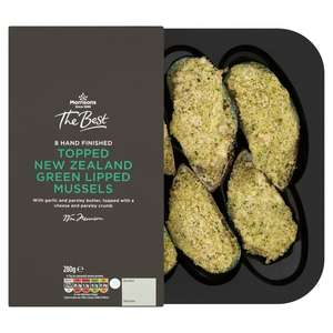 Topped Frozen New Zealand Green Lipped Mussels £2.00 (8 in a pack) @ Morrisons