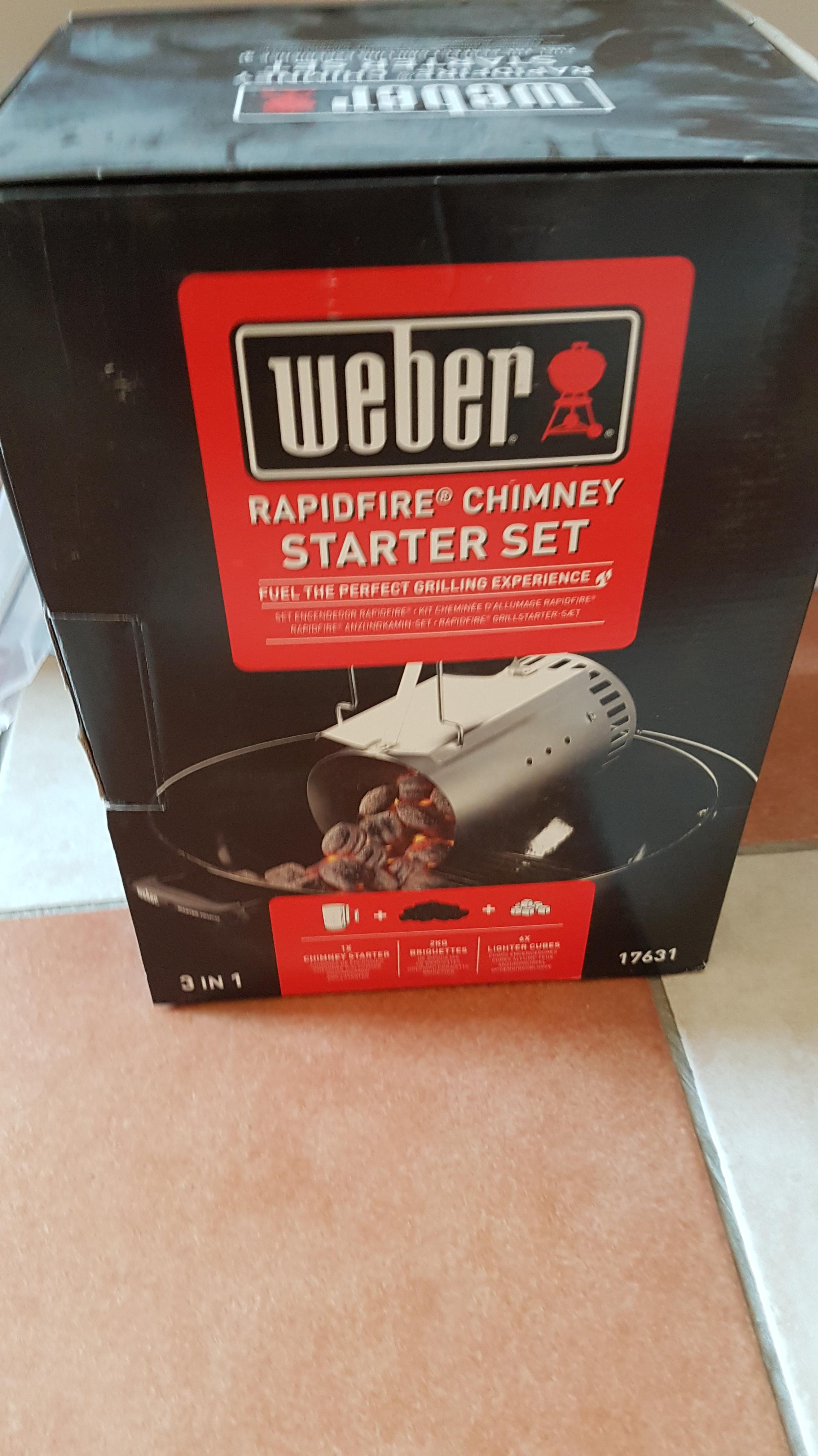 Weber rapidfire chimney starter set £7 @ B&Q