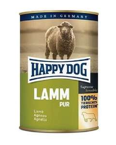Happy Dog Pure Lamb wet dog food. £5.19(NOW £4.75) for 12 (YES TWELVE!) x 400g tins delivered (Prime) - Amazon