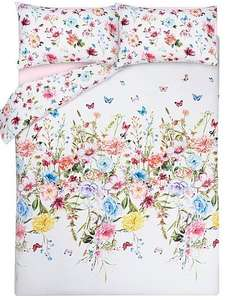 Double Floral Bloom Reversible Duvet Cover £6.00 (was £12.00) @ Asda - Free C+C
