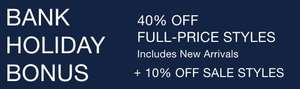 Gap 40% off Full price styles + Extra 10% off Up to 60% Off Sale with code + Free C+C