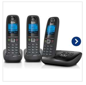 GIGASET AL415A Cordless Phone with Answering Machine - Triple Handsets + 12 month guarantee £39.99 @ eBay currys
