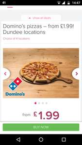 Domino's pizza (City Quay, Broughty Ferry, Douglasfield and Arbroath) at Itison from £1.99