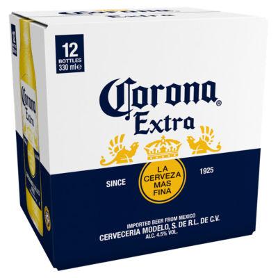 Corona Extra Lager (330ml) x12 bottles for £8 @ Asda