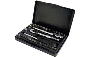 HALFORDS ADVANCED 36 piece 1/4 inch drive socket set was £60 now £15