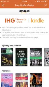 IHG offers members get free kindle ebooks