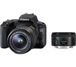 CANON EOS 200D DSLR Camera with EF-S 18-55 mm f/3.5-5.6 III & EF 50 mm f/1.8 STM Lens £579.99 + £50 cashback at Currys