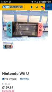 Listing error: nintendo switch £159.99 @ cashgen