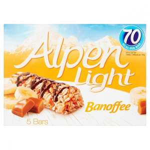 BANOFFEE ALPEN BARS 5 PACK 75p @ Poundstretcher