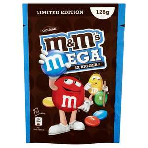 M&M'S MEGA CHOCOLATE 128G 59p @ Poundstretcher