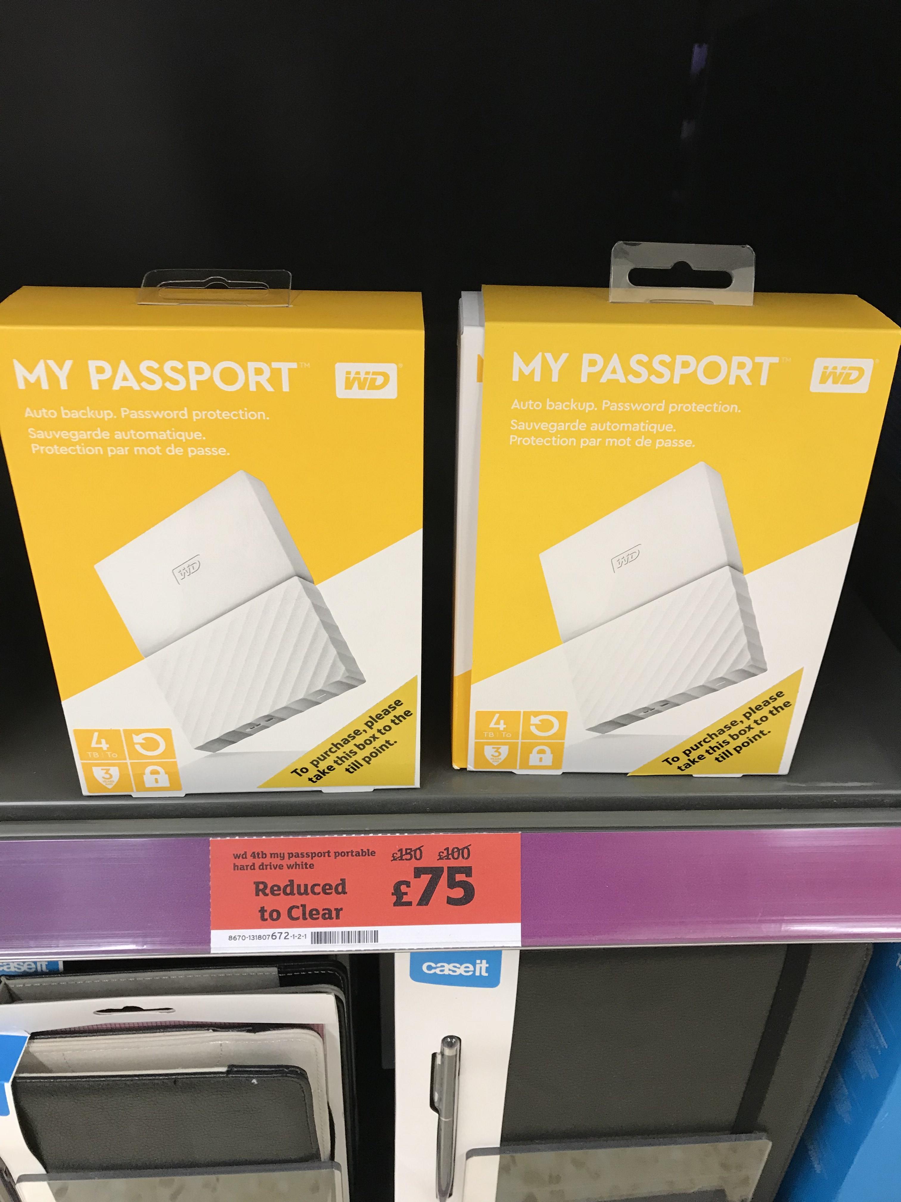 WD My Passport 4tb £75 - Sainsburys Cheltenham