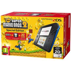 Nintendo 2DS 4GB with Pre Installed Super Mario Bros. 2 Bundle - Black / Blue or with Pre Installed Tomodachi Life Bundle - White / Red £69 Delivered @ AO