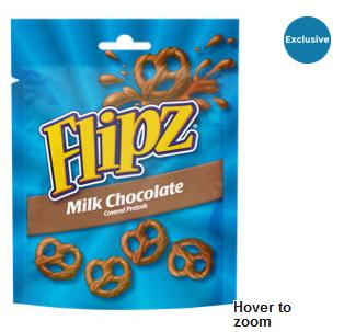 """Flipz (Formerly Pretzel Flipz) Milk Chocolate, Dark Chocolate Covered Pretzels 100g, """"Exclusive"""", £1 In Store And Online At Asda"""