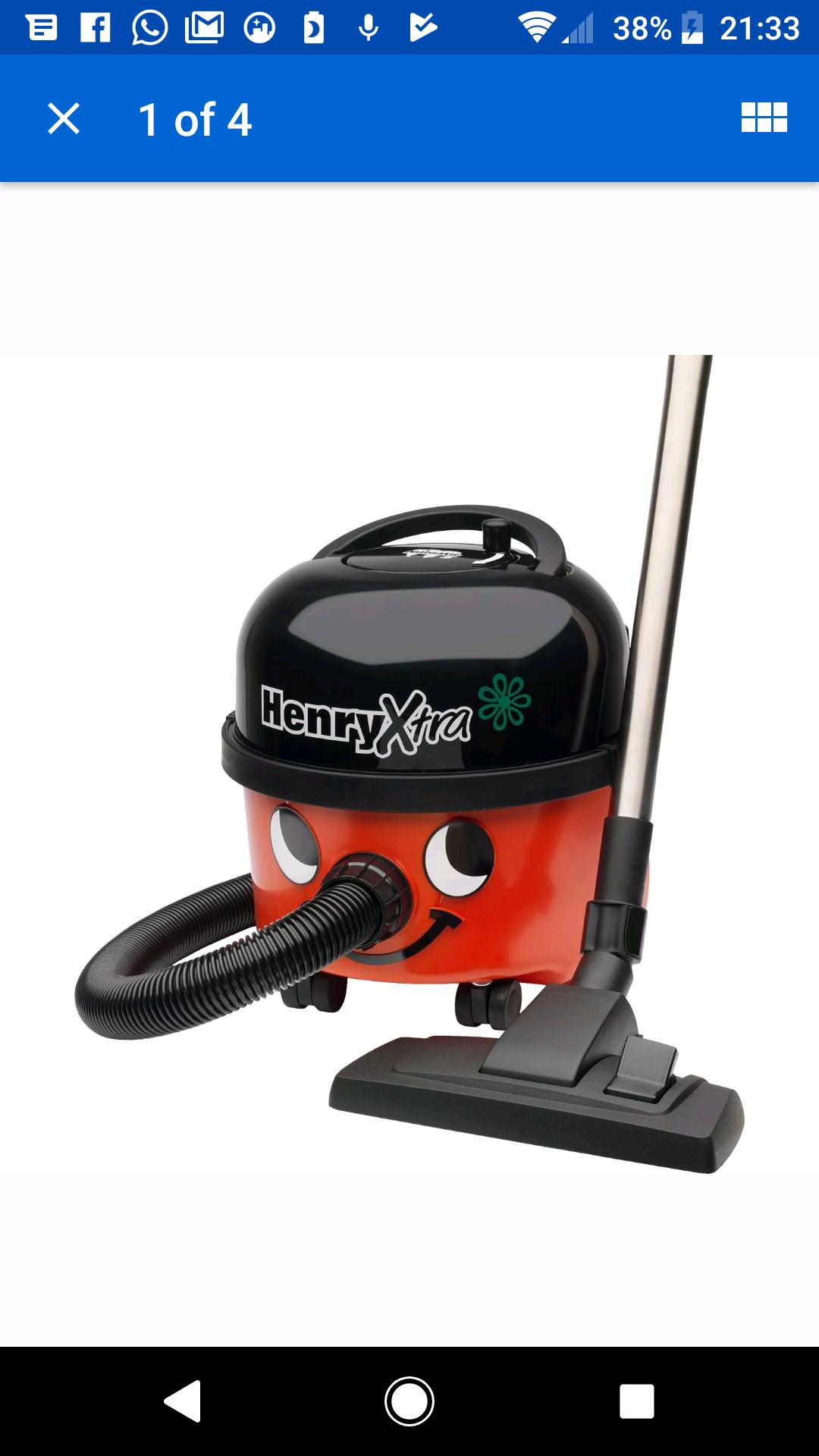 Numatic Henry Xtra HVX20011 Bagged Multi Floor Cylinder Vacuum Cleaner in Red £119.99 @ CoOp Ebay