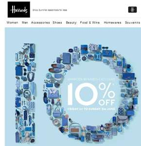 Harrods Rewards Weekend 10% OFF+ £30 off £100 spend through AMEX