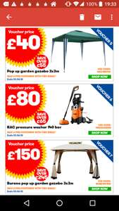 RAC Pressure Washer with Accessories 140 Bar 1900w £84.99 delivered from JTF