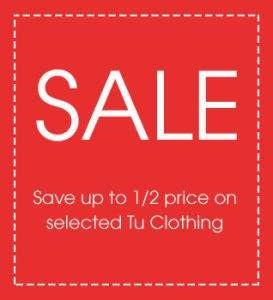 TU clothing half price sale online and instore @ Argos