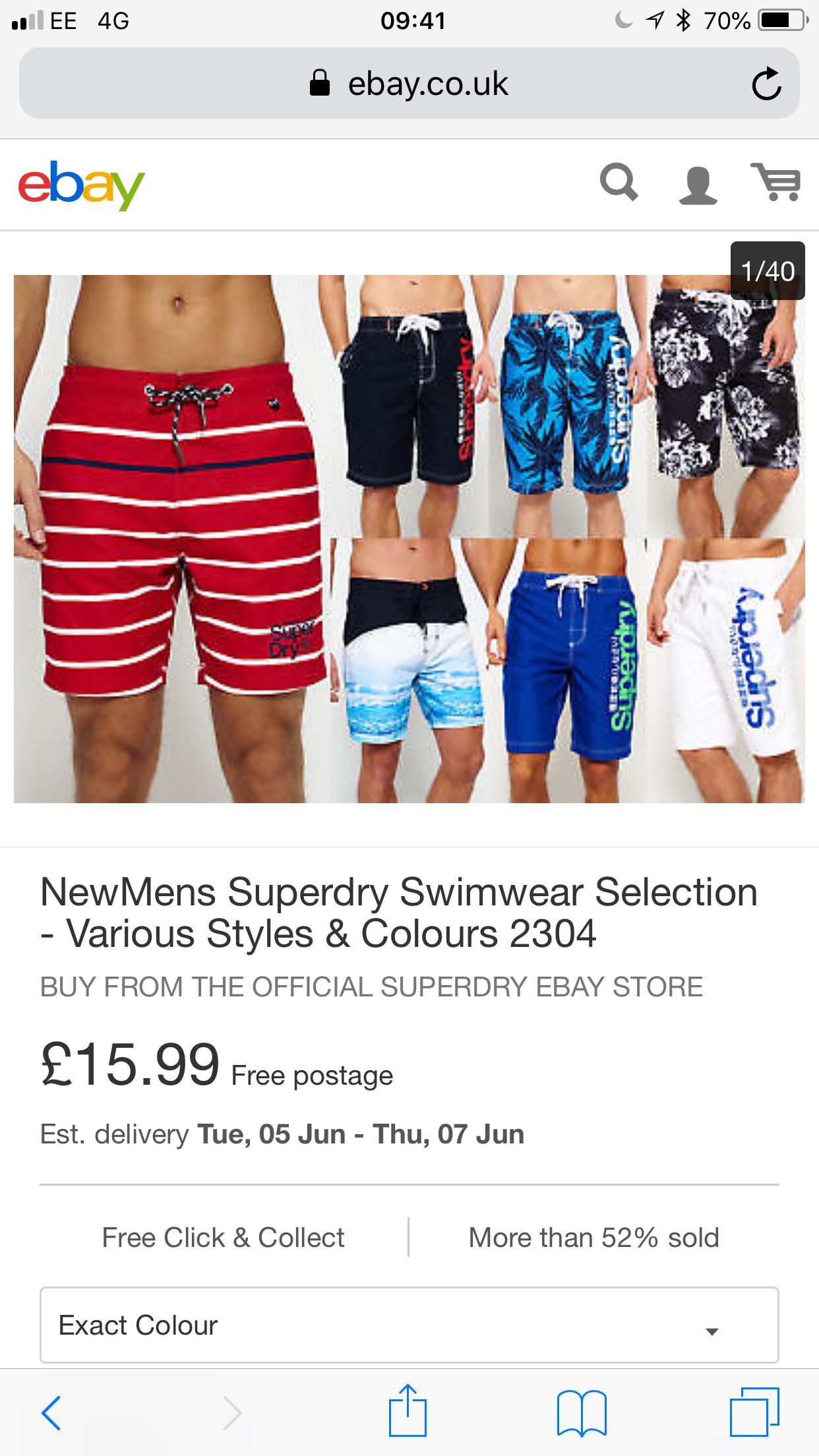 Superdry swimwear men £15.99 - ebay Superdry store