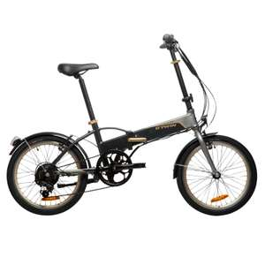 Decathlon Hoptown 500 lightweight folding electric bike with integral battery on clearance for just £499.00.