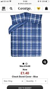 Bedding - single, double & king from £1.40 @ Asda