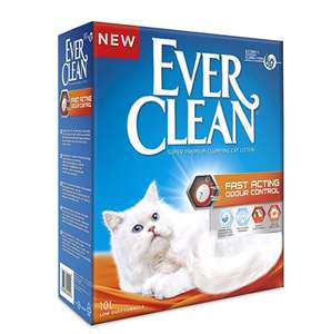 80% off 10 Litre Ever Clean Cat Litter Fast Acting Odour Control with voucher and subscribe and save @ Amazon