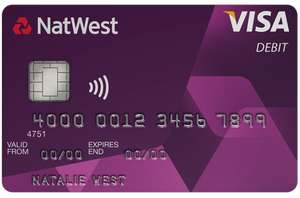 No foreign transaction fees Natwest Debit Card with Reward or packaged accounts
