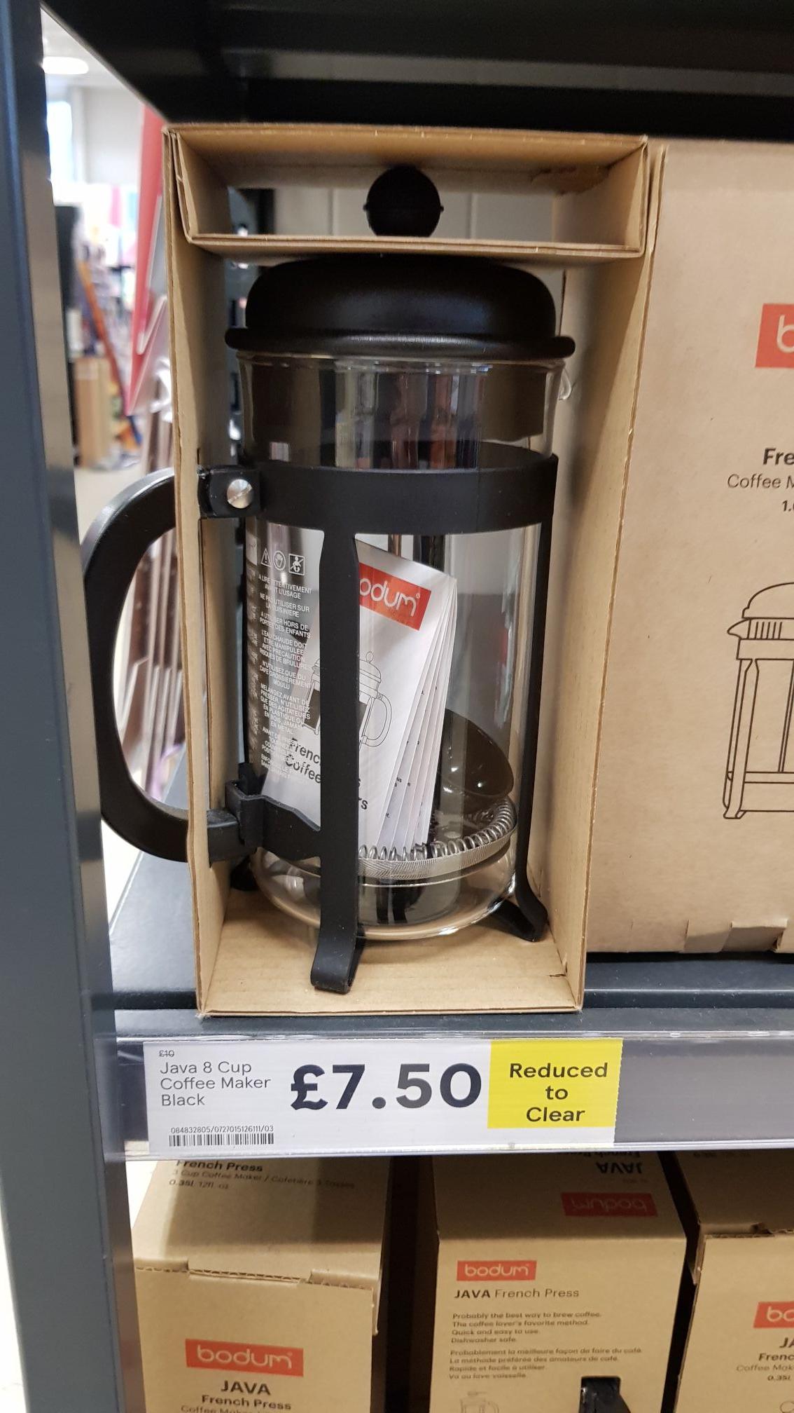 Bodum 8 cup 1L French Press £7.50 @ Tesco Cradley