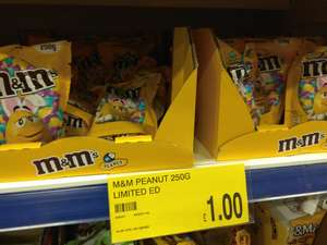 B&M Limited Edition (Easter) Peanut M&M's 250g bag £1