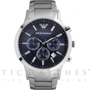Emporio Armani AR2448 Silver Watch Blue Dial £102.95 @ Tic Watches