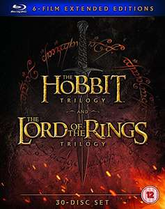 Middle Earth – Six Film Collection Extended Edition [Blu-Ray] LOTR  and Hobbit Trilogies £39.99 @ Amazon