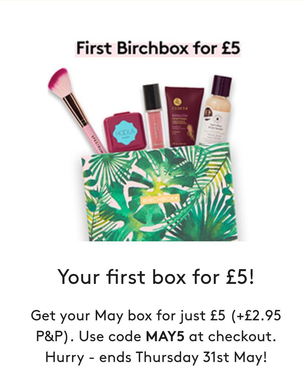 £5 off first Birchbox