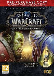 World of Warcraft: Battle For Azeroth - Pre-purchase £27.28 @ Amazon