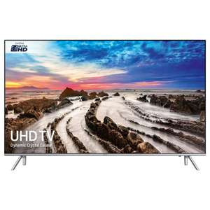 "Samsung UE55MU7000 HDR 1000 4K Ultra HD Smart TV, 55"" with TVPlus/Freesat HD, Dynamic Crystal Colour & 360 Design, Ultra HD Certified, Silver £699 @ John Lewis"