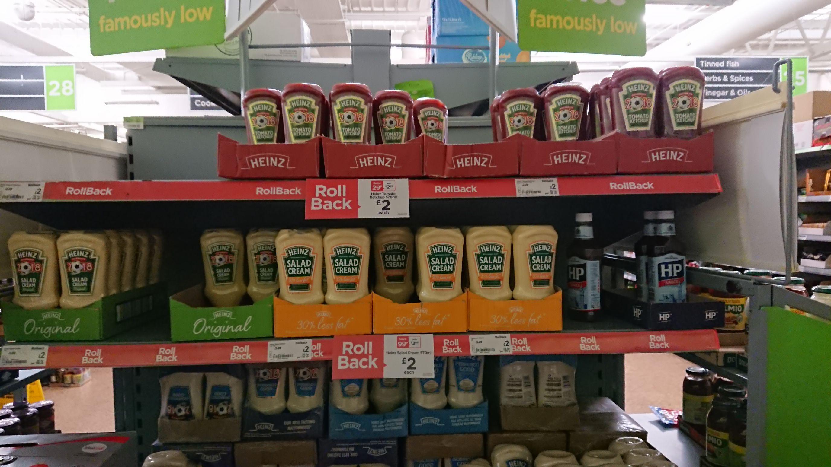 Heinz Mayonnaise, Ketchup and Salad cream 570ml £2 instore / online @ Asda