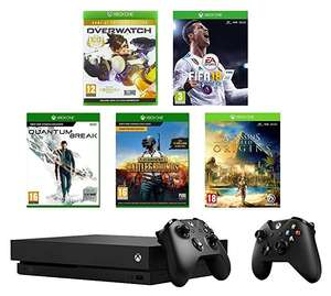 Xbox One X 1TB + Extra Controller + FIFA18 + PUBG + Overwatch GOTY + Quantum Break + Assassin's Creed Origins £449.99 @ Amazon