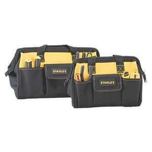 "STANLEY SOFT TOOL BAG TWIN PACK 12 & 16"" £19.99 @ Screwfix - free c & c limited stock about"