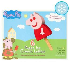 Peppa Pig 6 Ice Cream Lollies £1.75 each or 2 for £3 @ Asda