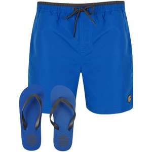 Men's Swim Shorts with Flip Flops Set (was £17.98) now £9.99 delivered w/code at Tokyo Laundry (3 colours)