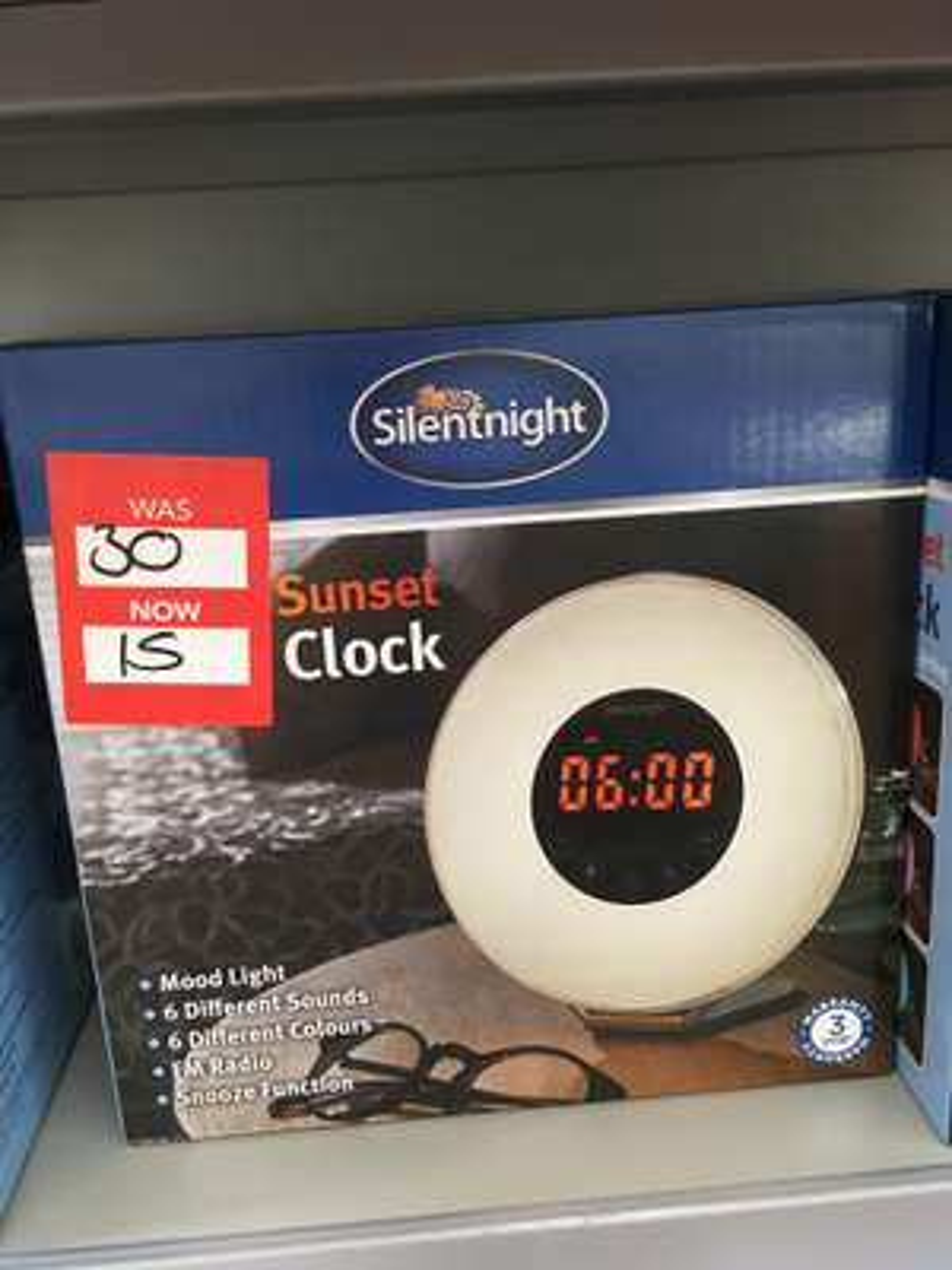 Silentnight Dawn Alarm Clock £15 @ Dunelm instore (Cannock)