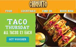 Taco Thursday's are back @ Chiquito - All Taco's £1