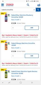 Tesco meal deal. Including naked smoothie 360ml which are £2.36 on their own - £3
