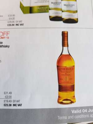 Upcoming costco whisky deals from 04/06 (eg Glenmorangie 10 £23.38)