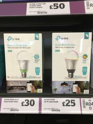 TP-Link WiFi bulb - £25 instore @ Sainsbury's